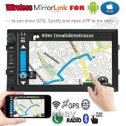 Android GPS Double 2 Din 7 Car Stereo MP5 With Backup Camera Touch Screen Radio