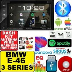 BMW E46 KENWOOD DVD BLUETOOTH Double Din Car Stereo Radio+Dash Kit+Harness+A/C