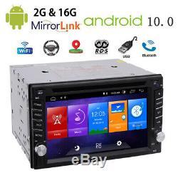 Backup Camera+Android 10.0 Q 2GB GPS Nav Double 2 Din Car Stereo Radio USB/SD