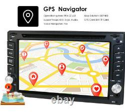 Backup Camera GPS Double 2Din Car Stereo Radio CD DVD Player Bluetooth with Map+