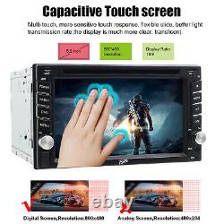 Backup Camera+GPS Navi 6.2 Double 2 Din Car Stereo Radio DVD CD MP3 Player AUX