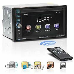 Boss Double-DIN 6.5 Touchscreen Monitor Bluetooth Car MP3 Player Stereo BV9370B