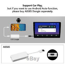 CAM+OBD+CarPlay+ 10.1 Car GPS Android 10 Stereo Radio Double 2DIN Universal DSP