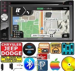 CHRYSLER JEEP DODGE Jensen Navigation Double Din DVD Radio Stereo bluetooth bt