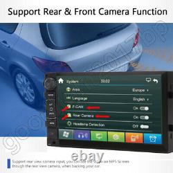 Camera+Android 2DIN 7inch Car Radio Stereo MP5 Player GPS Touchscreen For Nissan
