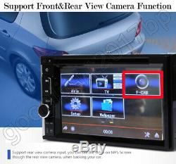 Camera+Double 2Din Car DVD Stereo Touch Screen Radio Mirrorlink For GPS Navi Map