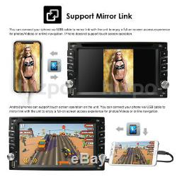 Car GPS Double 2Din Stereo Radio CD DVD Player BT with Map+Camera For Universal