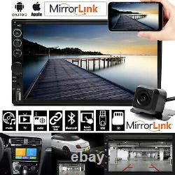 Car Stereo 7+ Backup Camera Touch Screen Double 2 Din Radio Mirror Link For GPS