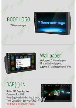 Car Stereo 7 Smart Android 8.0 WiFi Double 2DIN Radio Player GPS+Backup Camera