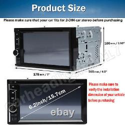 Car Stereo Bluetooth Radio Double 2Din DVD Player Camera Mirror Link For GPS Nav