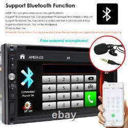 Car Stereo Bluetooth Radio Double 2 Din 7 CD DVD Player AUX With Backup Camera