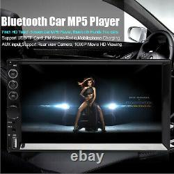 Car Stereo Radio Bluetooth Audio Receiver Double 2 Din 7Touch Screen USB+Camera