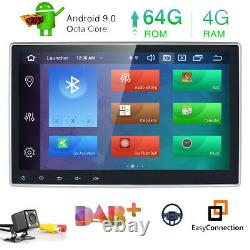 DSP +Camera 10.1 Android 10 4+64GB Double 2 DIN Car DVD Stereo Radio GPS Navi