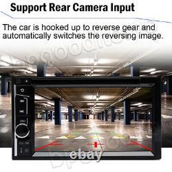 Doble Din Car Stereo DVD Reproductor de CD + Cámara Touch Radio Mirror para GPS