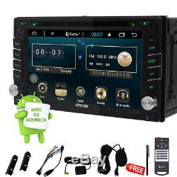 Double 2DIN Android 6.0 GPS Navi Car Stereo DVD Player BT HD Radio MP3 Free WiFi