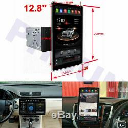 Double 2DIN Android Car Stereo Radio Player 12.8 Touch Screen 100° Rotating GPS