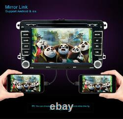 Double 2DIN For VW Golf MK5 MK6 T5 Car Stereo Radio Bluetooth DVD CD Player RDS
