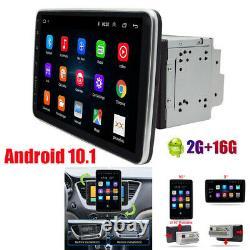 Double 2DIN Rotatable 10.1'' Android 10.1 Car Stereo Radio GPS Wifi Touch Screen