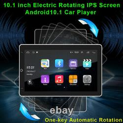 Double 2DIN Rotatable 10.1'' Android 10.1 Touch Screen Car Stereo Radio GPS Wifi