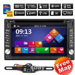 Double 2Din 6.2 Car Radio Stereo DVD Player GPS Bluetooth For Android & Apple
