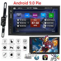 Double 2Din 7Car Stereo Radio NO DVD Player Android 9.0 GPS SD Bluetooth AUX