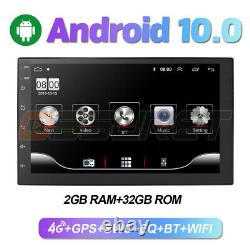 Double 2Din Android 10 7 1080P Car pLAYER Stereo Radio GPS Wifi QUAD-Core 2+32G
