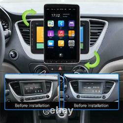 Double 2Din Rotatable 10.1in Android 9.1 Car Radio Stereo Video Player GPS WiFi