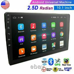 Double 2 Din 10.1 Android 9.1 GPS Navi Car Stereo Radio WiFi MP5 2.5D Screen