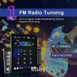Double 2 Din 9.5'' Car Stereo Radio Apple Carplay Bluetooth FM Mirror Link + Cam
