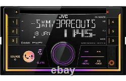 Double DIN Car Stereo Radio JVC KWR930bt 1 pair 2way 6.5 1pair 6x9 3way speakers