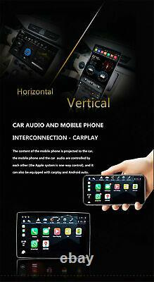 Double Din Android 9.0 Car Stereo Radio Player 12.8 Touch Screen 100° Rotating