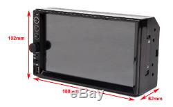 Double Din Car Radio MP5 Stereo 7 Mirrors For Android IOS GPS Navigation+Camera