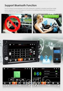 Double Din Car Stereo 6.2 DVD CD Touch Screen Radio Mirror Link For Android&IOS