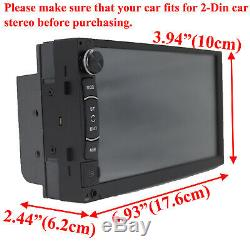 Double Din Car Stereo Head Unit Touch MP5 Player USB Radio with HD Backup Camera