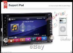 Dual Zone 2Din In Dash 6.2 Car DVD Radio Stereo Player GPS Navigation BT+CAMERA