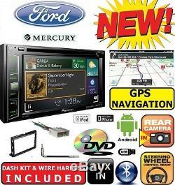 FORD MERCURY NAVIGATION DVD Radio Stereo Installation Double Din Dash Kit