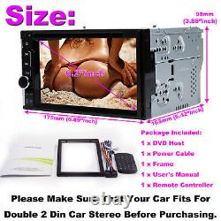 Fit For TOYOTA RAV4 Corolla Camry 2 DIN Car Stereo CD DVD Radio HD AUX Bluetooth