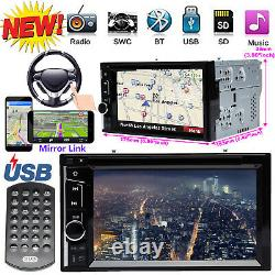 Fit Ford F-150 Mustang Fusion 2004-2014 Car Stereo CD DVD Player Bluetooth 2 Din