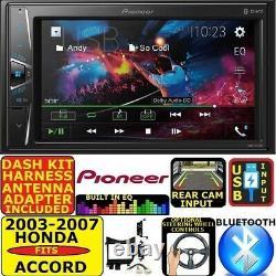 Fits 03-07 Honda Accord Pioneer Touchscreen Bluetooth Usb Aux Radio Car Stereo
