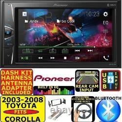 Fits 2003-08 Toyota Corolla Pioneer Bluetooth Usb Aux Car Radio Stereo Pkg