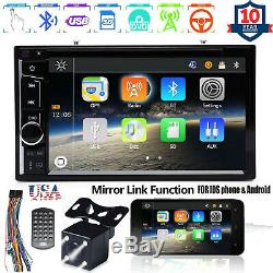 For CHRYSLER JEEP DODGE Car DVD Radio Bluetooth Stereo Mirror for GPS + Camera
