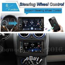 For Chevrolet GMC Double 2Din 6.2'' Car Radio Stereo + Rear Backup Camera Hot