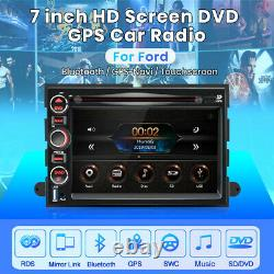 For Ford F150 Edge 7 2Din Car Stereo Radio DVD Player BT GPS Navigation