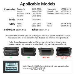 For GMC Yukon Chevy Silverado Double DIN Android 10 8 Car Stereo Radio GPS Navi