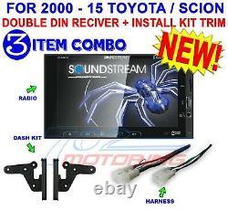 For Toyota & Scion Bluetooth Usb Car Radio Stereo Pkg. Opt. Rear Cam Soundstream