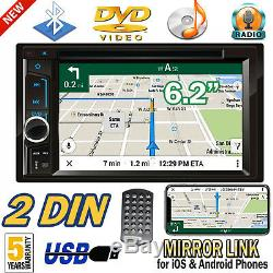 For Toyota Tacoma Tundra 1995-2018 2 Din Car Stereo DVD Player Radio Phone Link