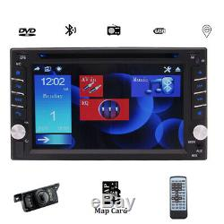 GPS Navi Double Din Car Stereo Radio DVD mp3 Player Bluetooth with Map+Camera