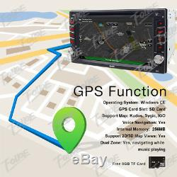 GPS Navigation Bluetooth Radio Double Din 6.2Car Stereo CD DVD Player Free Map