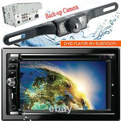 Gravity VGR-D900B Car Stereo 2 DIN Touch DVD Player AM/FM with Bluetooth + Camera