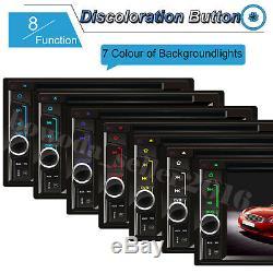 HD 2DIN Car Stereo CD DVD Player Radio FM AM TV USB MP3 Mirror Link For GPS +Cam